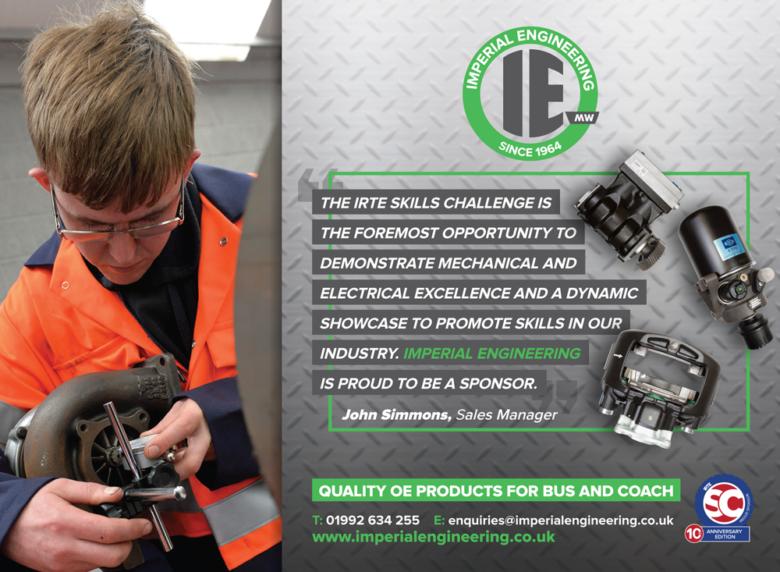 Imperial Engineering IRTE Skills Challenge Sponsorship