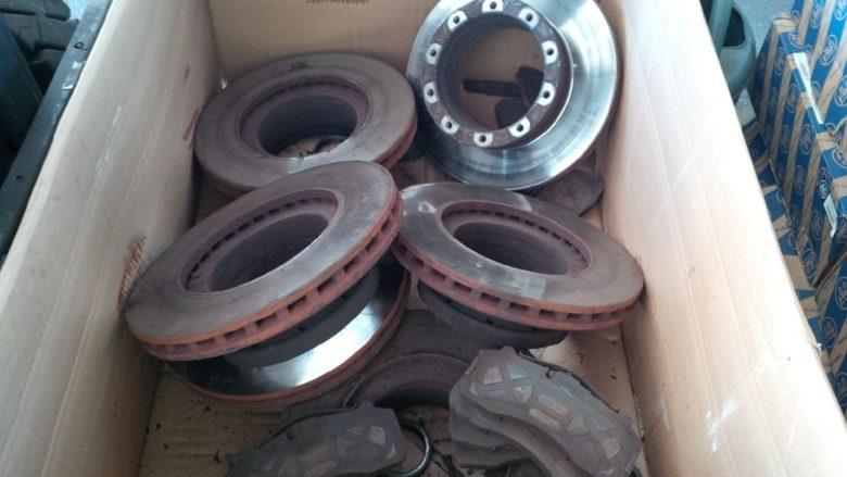 worn bus disc brakes